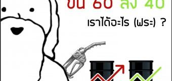 ว่าด้วยเรื่องการปรับราคาน้ำมัน ขึ้น50ลง30  ขึ้น 60 ลง 40